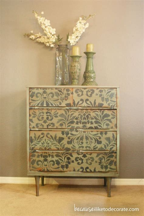 Stencil Dresser by Pin By Stencilsearch On Stenciled Furniture