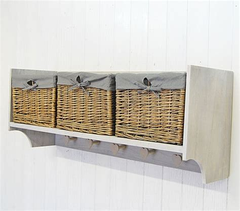 wall shelves with baskets wall shelf storage unit with lined willow basket storage