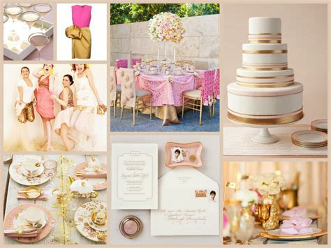 gold wedding themes pictures gold and pink wedding theme fantastical wedding stylings