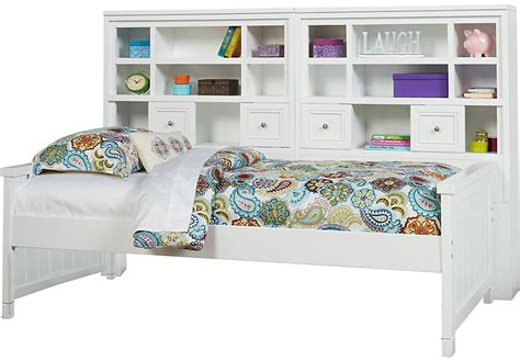 cottage colors white 5 pc bookcase daybed beds