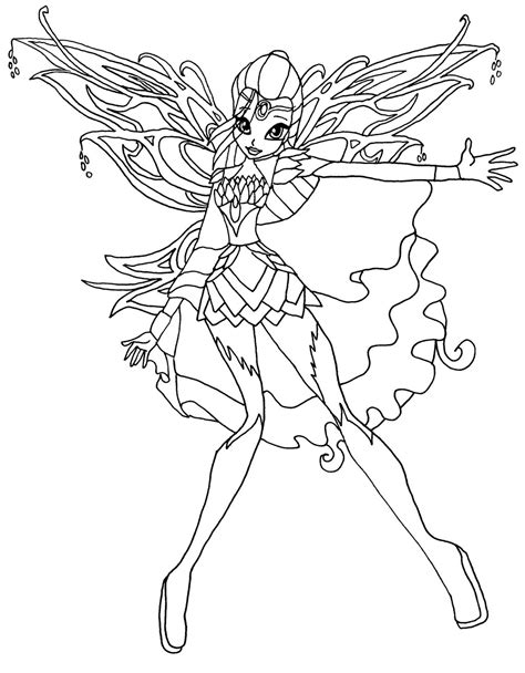 Winx Club Coloring Pages Bloomix bloomix bloom by elfkena on deviantart