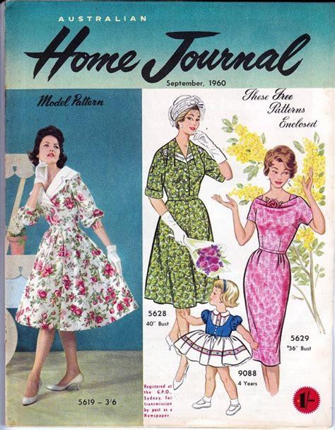 clothes pattern magazine vintage australian home journal magazine with 3 unused