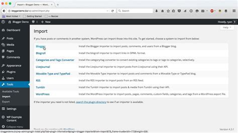 blogger plugin a comprehensive guide for importing blogger to wordpress