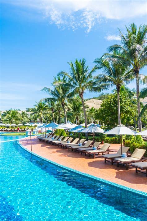 hamacas de piscina hamacas cerca de la piscina descargar fotos gratis