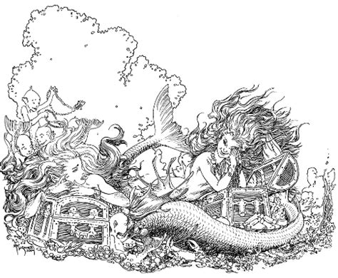 Sea Floor Drawing by January 2011 I Am A Mermaid
