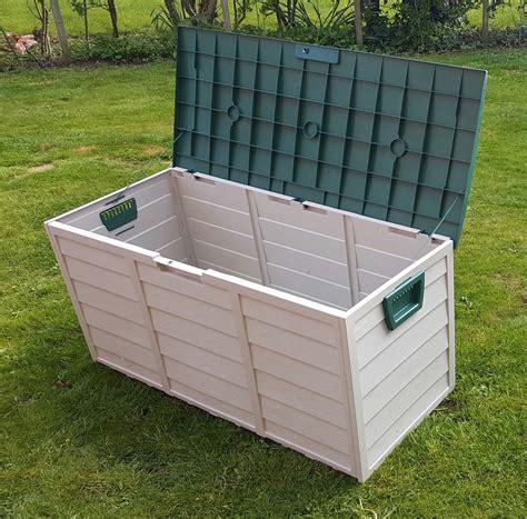 garden storage container lord of the lawn garden storage box plastic outdoor