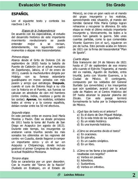 examen bloque 3 quinto grado 2016 examen 5 grado 3 bloque contestado examen montenegro 5