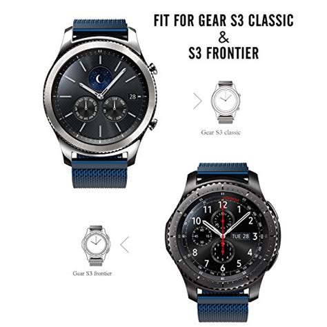Milanese Samsung Gear S3 Classic Frontier Stainless Steel Band gear s3 band moko milanese loop stainless steel mesh smart for samsung gear