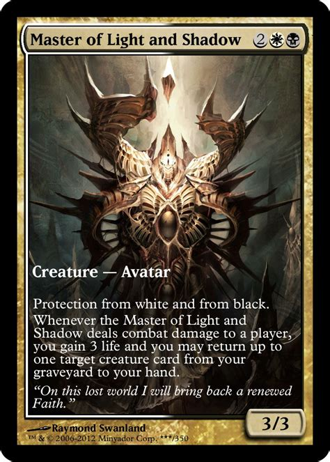 Master Of Light by Mtg Funcard Master Of Light And Shadow Boxless By Lord