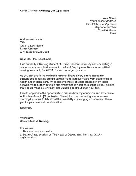 cover letter nursing new grad nursing cover letter new grad that is special for you who