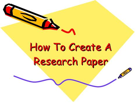 How To Make A Paper Slide - graphic design how to create a research paper