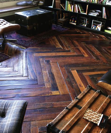 Made Floors wood pallets made into rustic but beautiful floors