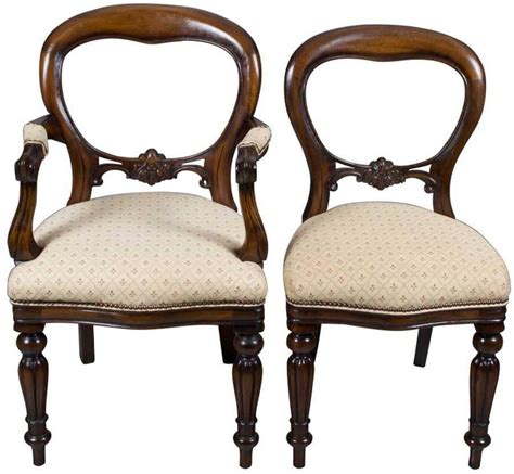 set   victorian style balloon  dining chairs