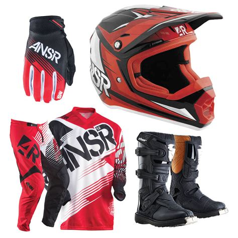 motocross gear for answer mx syncron red youth dirt bike protection pack kids