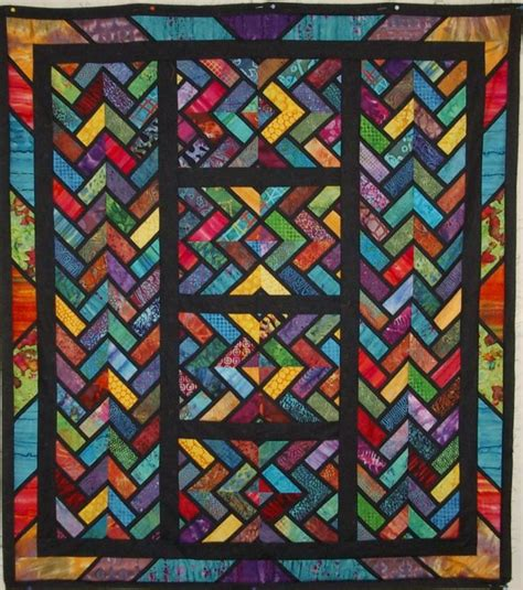 quilt pattern stained glass braid with a twist stained glass effect by rick mcguire