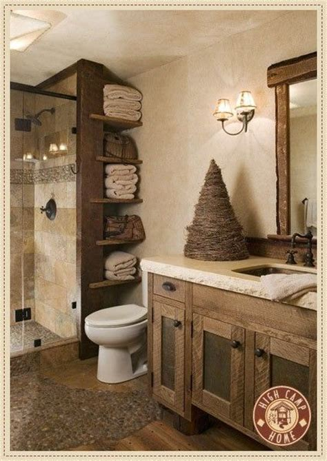 Bathroom Storage Next To Shower Home Pinterest Rustic Bathroom Storage