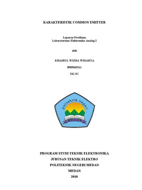sifat transistor efek medan ek analoq 2 karakteristik c emitter