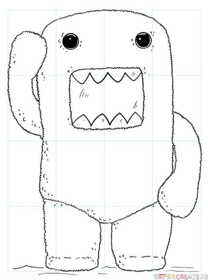 how to draw domo doodle how to draw domo step by step drawing tutorials