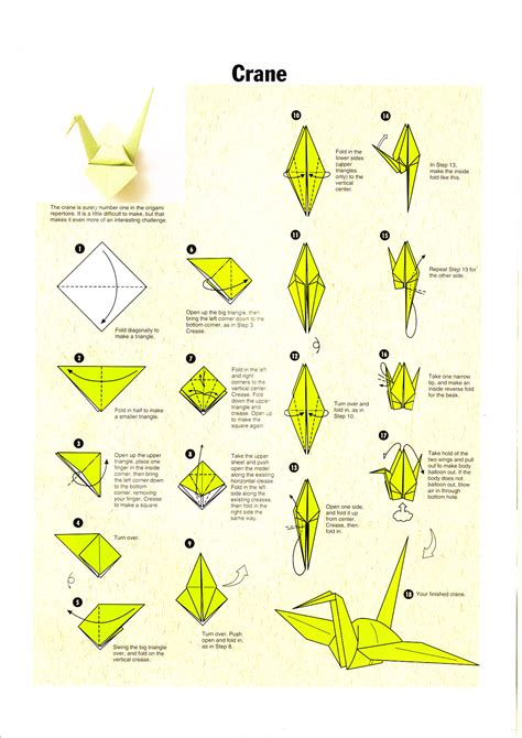 Steps On How To Make A Paper Crane - image gallery origami crane pdf