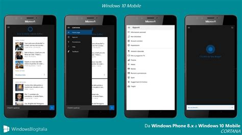 italiano mobile differenze tra windows phone 8 1 e windows 10 mobile
