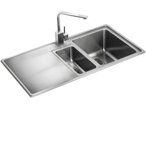 kitchen stainless steel sinks rangemaster arlington ar9852 stainless steel sink kitchen sinks taps