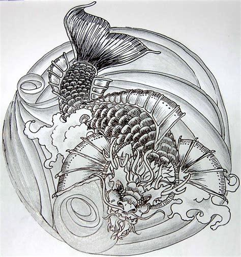 dragon koi tattoo design koi by dvyrelestat on deviantart