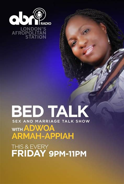 talk it over in bed adwoa armah appiah takes over uk night radio with bed talk 233times com