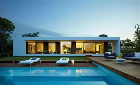 modern house plans with pool modern plan of single storey house with contemporary