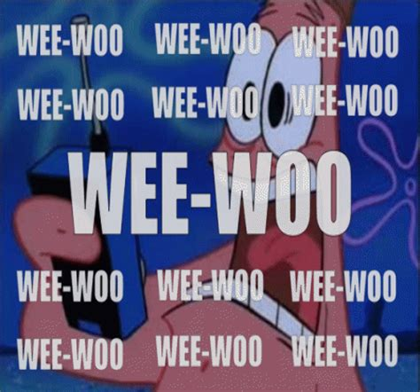 Wee Meme - wee woo wee woo spongebob squarepants know your meme