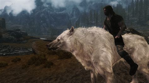 dire wolf feralis dire wolf mount at skyrim nexus mods and community