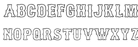 typography outline bosox outline font