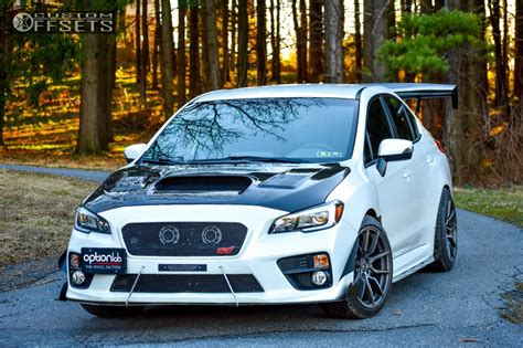 wrx subaru custom wheel offset 2016 subaru wrx sti poke stock
