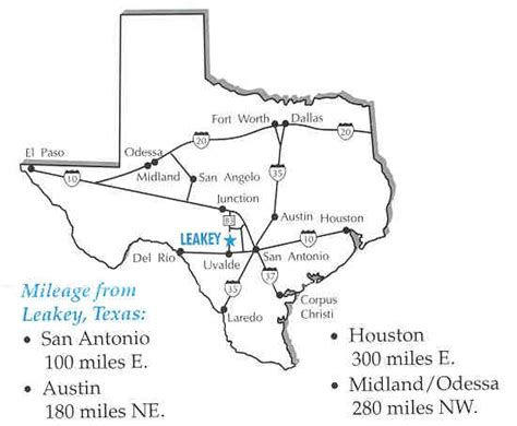 map of concan texas leakey springs cabins