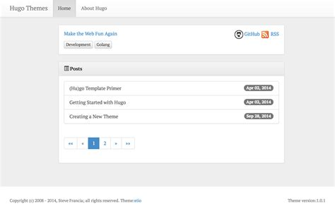 hugo themes blog github leonhe hugo eiio hugo blog theme