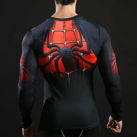 Tshirt Supeheroes Batman Size L Ld 86 Cm 2017 superman batman sleeve t shirt compression tights tops