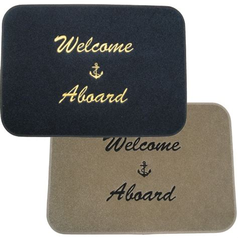 welcome aboard boat mat sandie s galley more