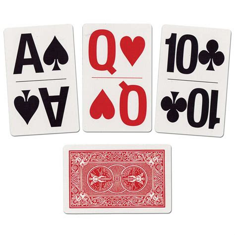 bicycle large print playing cards standard size poker cards  set ebay