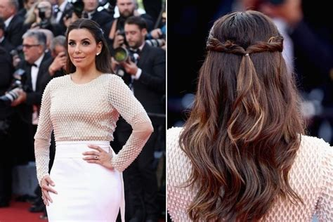 half up half down hairstyles red carpet eva longoria s half up half down the most gorgeous