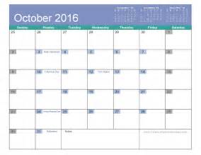 Free Pdf Calendar Template by October 2016 Calendar Printable 6 Templates Pdf Excel