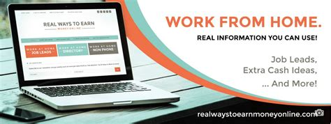 Real Online Work From Home Jobs Free - realwaystoearnmoneyonline com real ways to earn work