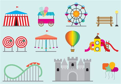 theme park vector amusement park vectors download free vector art stock