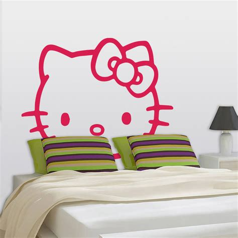 hello kitty removable wallpaper hello kitty headboard removable wall stickers and wall