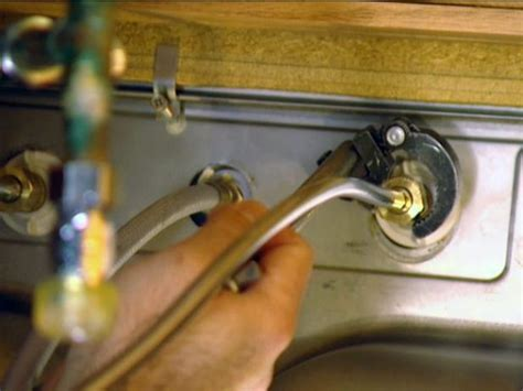 how to remove an old kitchen faucet how to install a single handle kitchen faucet how tos diy