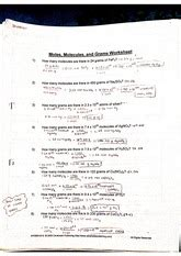 Moles Molecules And Grams Worksheet by Moles And Mass Worksheet Scanned By Camscanner Scanned