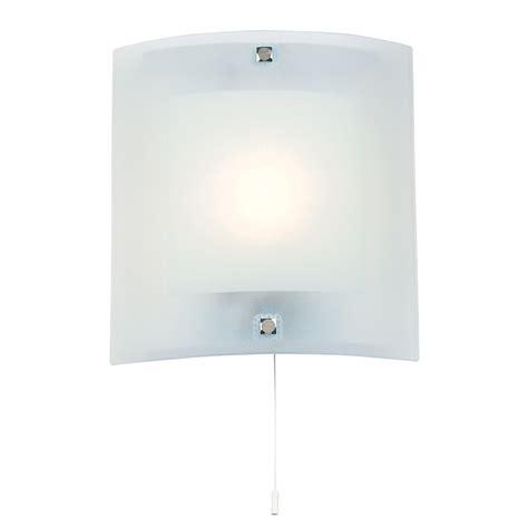 Endon Bathroom Lights Endon Lighting Bathroom Glass Wall Light Bracket Pull Chord White 143 Wb