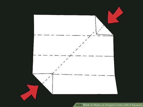 Make An Origami Cube - how to make an origami cube with 6 squares with pictures