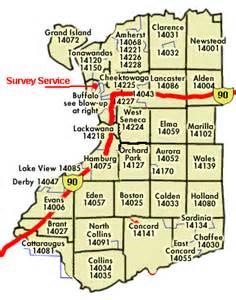 Buffalo Ny Zip Code Map by Survey Service