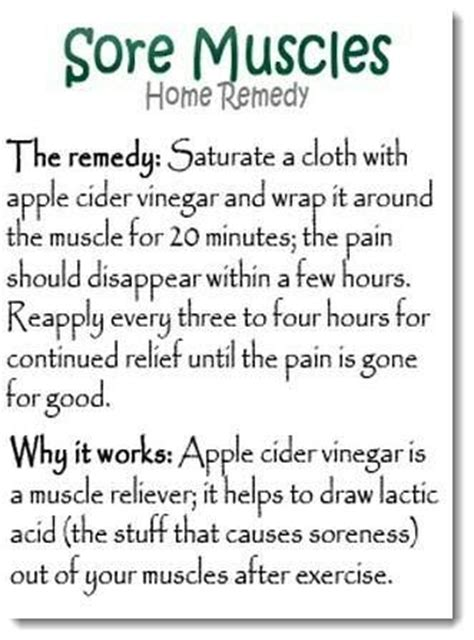 home remedy for sore muscles fitness motivation
