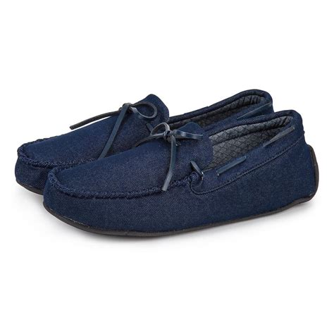 mens isotoner slippers isotoner mens denim moccasin slippers totes isotoner