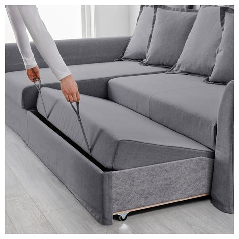 sofa sleepers ikea holmsund corner sofa bed nordvalla medium grey ikea